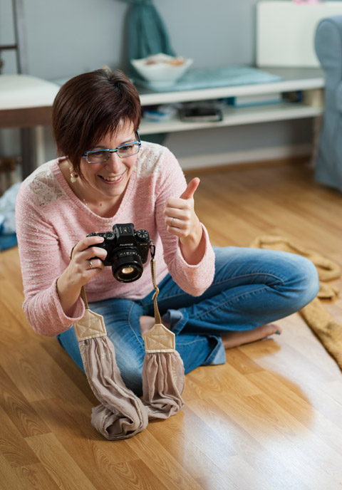 Portrait de la photographe Vanessa Bureau