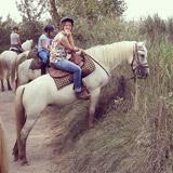 Vanessa à cheval en Camargue