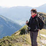 Vanessa en randonnée en chartreuse